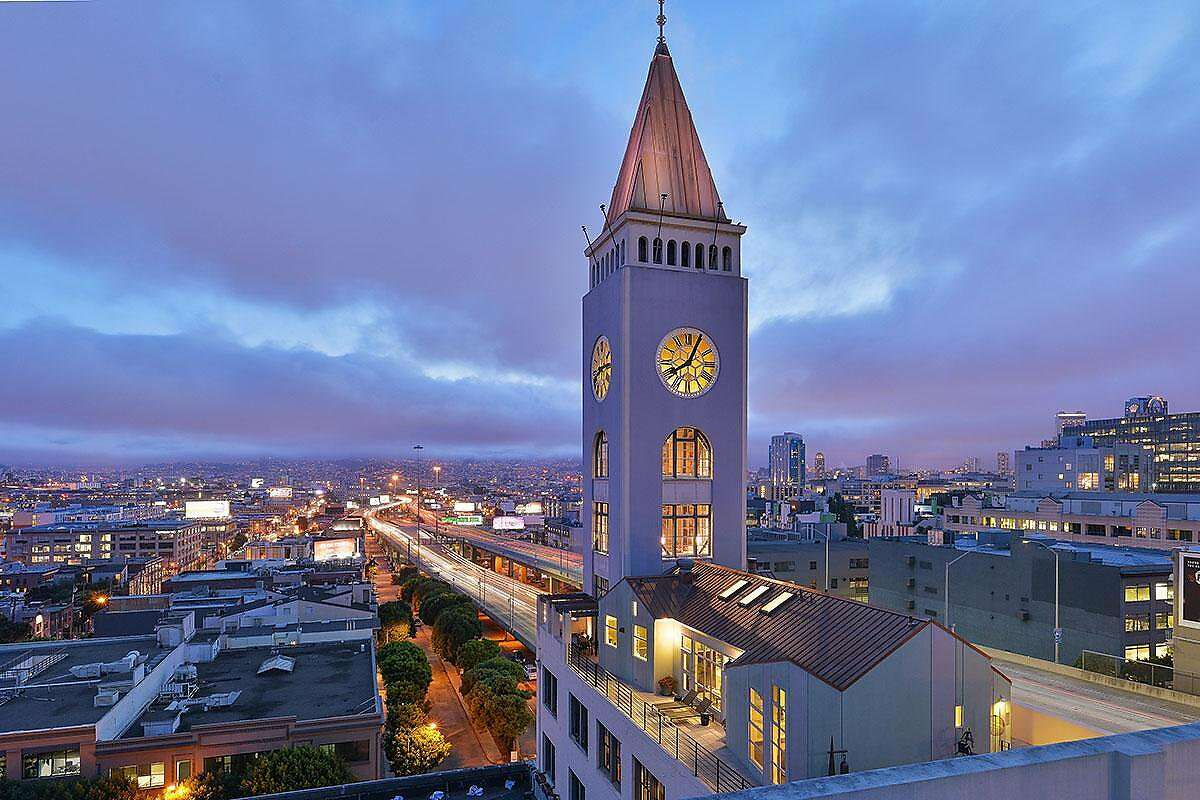 The penthouse loft at the top of San Francisco's historic Clock Tower Building at 461 Second St. is on the market for $8.5 million. The two-bedroom includes exclusive access to three floors rising into the tower.