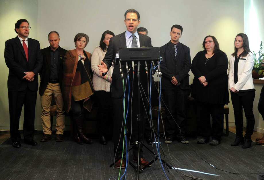 Sandy Hook families v. The Remington Arms Company, Camfour Holding LLC, and Riverview Sales (2016)Families of 10 Sandy Hook victims are suing the Remington Arms Company, maker of the AR-15-type Bushmaster, Camfour Holding LLC, the gun's distributor and Riverview Sales, the store where the gun was purchased by Adam Lanza's mother. They claim the gun maker and sellers knew that civilians are unfit to operate the assault rifle and yet continue selling it to civilians disregarding the threat the gun poses. Photo: Cathy Zuraw / Hearst Connecticut Media / Connecticut Post