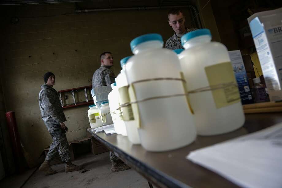 Water analysis test kits were made available to residents of Flint, Mich., in January. Detroit is now reporting similar problems. Photo: Ryan Garza, AP
