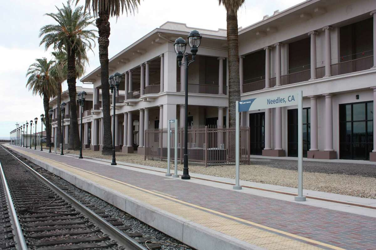 Amtrak's Southwest Chief line, which runs between Los Angeles and Chicago, stops once daily in each direction at the station in Needles, Calif. Both trains are scheduled to pull into the desert town between midnight and 1 a.m.