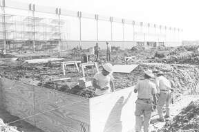Parkdale Mall construction. Photo dated 1972