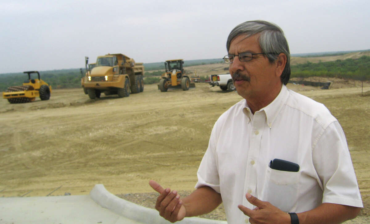 A federal grand jury charged Hector Chavez Sr., 67, Eagle Pass city manager with bribery, falsification of records, obstruction of justice and making a false statement to a federal agent, according to a news release from the U.S. Attorney's Office. At the time this photo was taken in 2009, Chavez was the director of public works for Eagle Pass, and also the construction manager for Maverick County's landfill project.