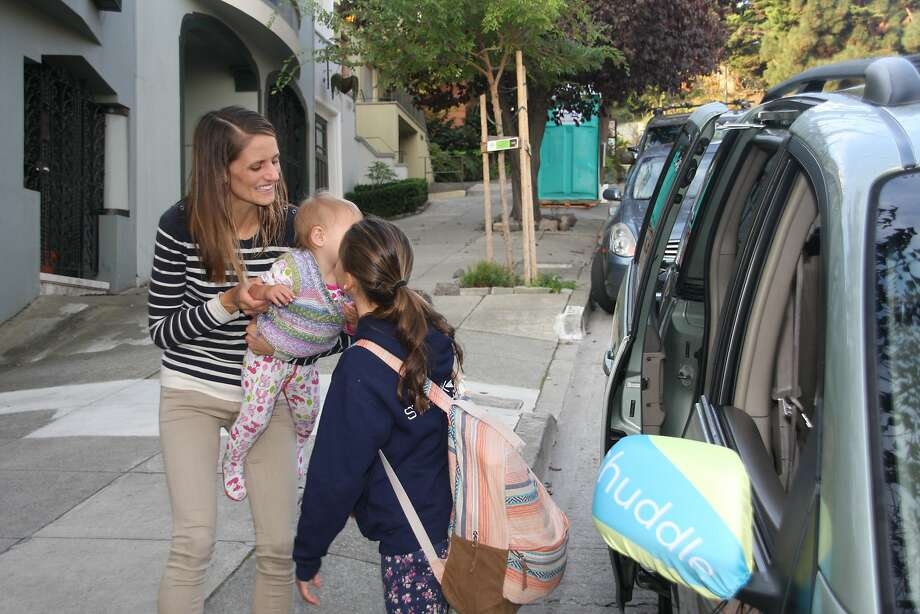 A Shuddle driver picks up an 11-year-old in San Francisco in 2014, the year the ride service for kids began. Photo: Amy Graff