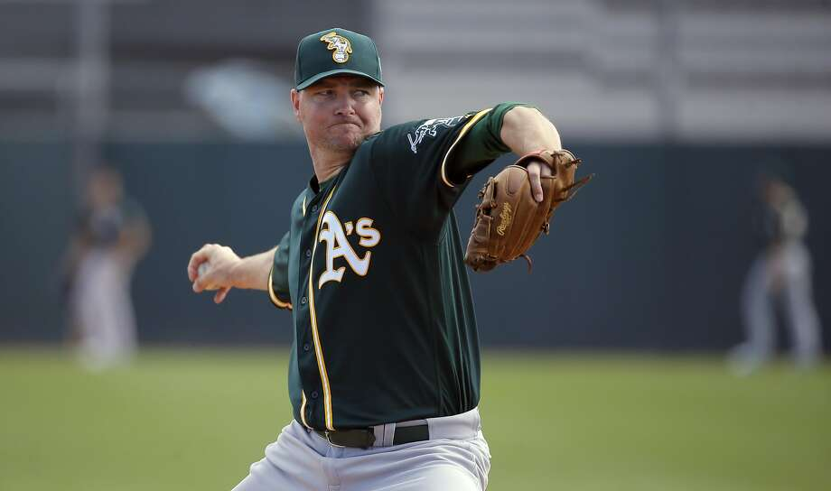 A's reliever Ryan Madson, who won a World Series with the Royals last year, has given up runs just once in his past 17 outings. Photo: Michael Macor, The Chronicle