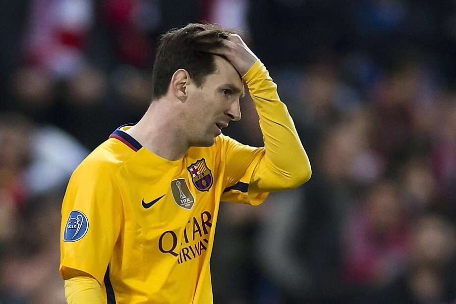 Lionel Messi is enduring his worst scoring slump in five years, and Barcelona was eliminated from the Champions League. Photo: Gonzalo Arroyo Moreno, Getty Images