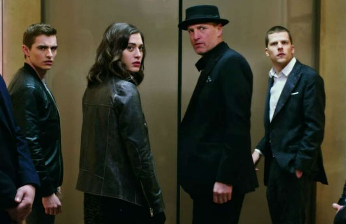Now You See Me 2 coming June 10. The Four Horsemen resurface and are forcibly recruited by a tech genius to pull off their most impossible heist yet. Starring Jesse Eisenberg, Mark Ruffalo, Woody Harrelson, Dave Franco.