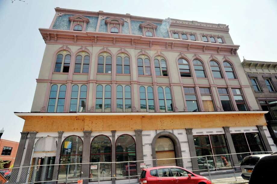 A view of the Quackenbush Building at 32 Third St., that is the future home of the Tech Valley Center of Gravity building on Monday, July 27, 2015, in Troy, N.Y.  (Paul Buckowski / Times Union) Photo: PAUL BUCKOWSKI / 00032780A