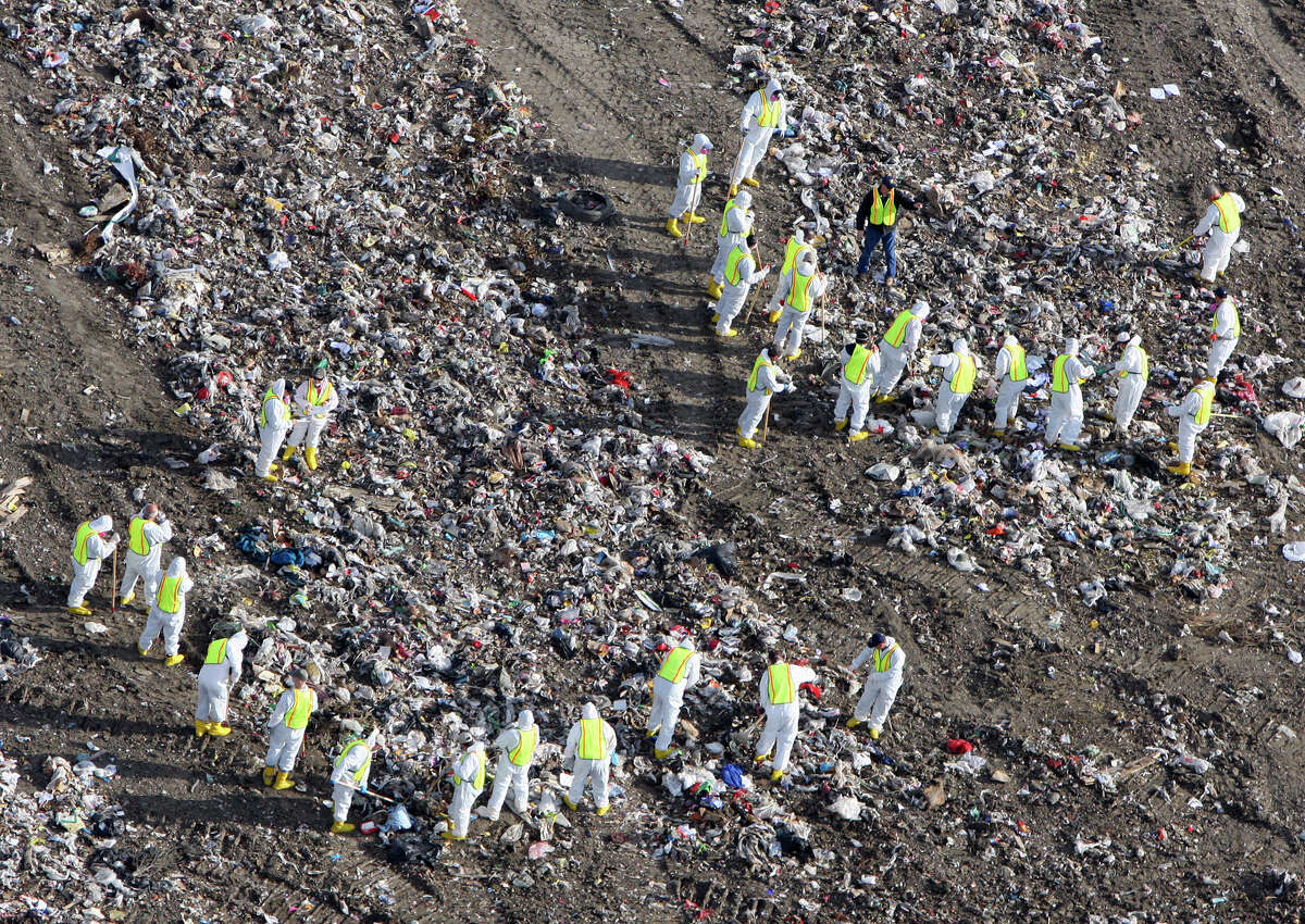 Search continues at an East Side landfill, Monday Feb. 22, 2010, in search of a missing Arizona baby, Gabriel Johnson, who was last seen in San Antonio the weekend after Christmas. (PHOTO BY EDWARD A. ORNELAS/eaornelas@express-news.net)
