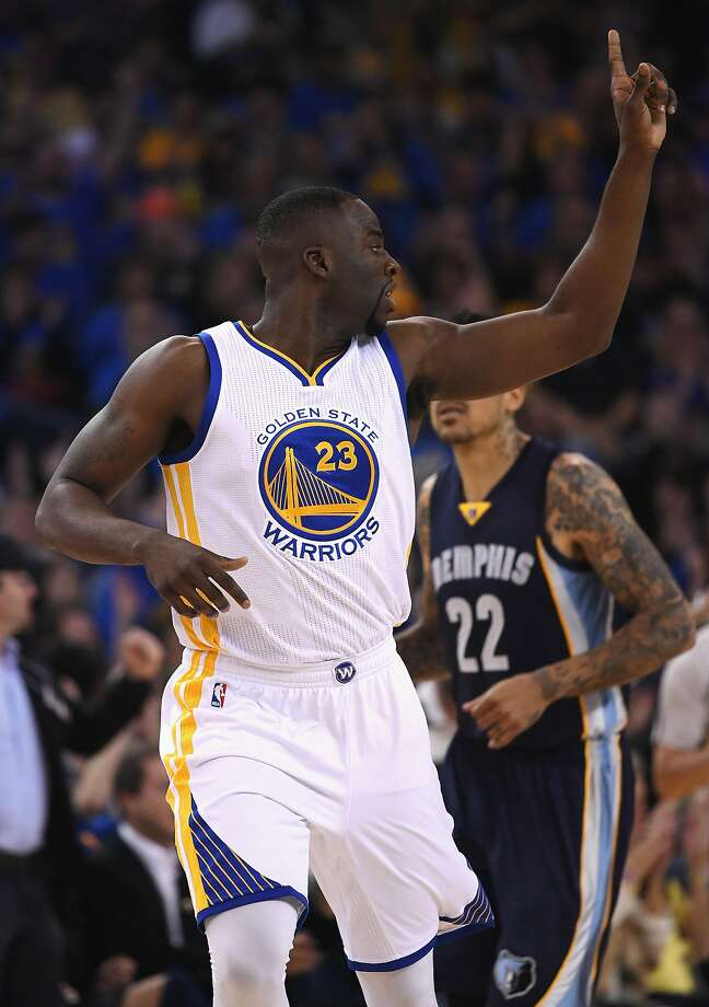 OAKLAND, CA - APRIL 13:  Draymond Green #23 of the Golden State Warriors gestures in the first half against the Memphis Grizzlies during the game at ORACLE Arena on April 13, 2016 in Oakland, California.  (Photo by Thearon W. Henderson/Getty Images) Photo: Thearon W. Henderson, Getty Images