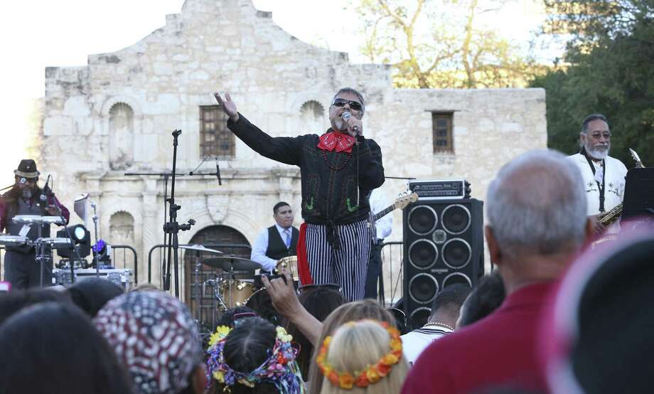 Little Joe y la Familia perform in front of the Alamo at the official opening of Fiesta 2016. Photo: Express-News File Photo / 2016 SAN ANTONIO EXPRESS-NEWS