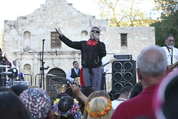Little Joe y la Familia perform in front of the Alamo at the official opening of Fiesta 2016.