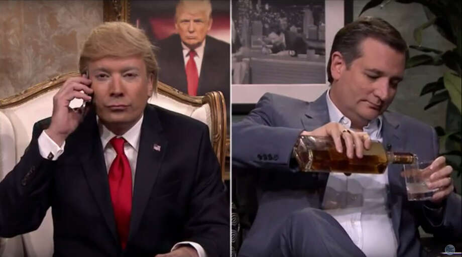 GOP nominee Donald Trump has long been an easy target for late night comedians _ as well as his own rivals. Texas Sen. Ted Cruz appeared on The Tonight Show with Jimmy Fallon for a mock interview with Fallon's impersonation of GOP front runner Donald Trump. But, what gets Trump riled up is being attacked on policy.