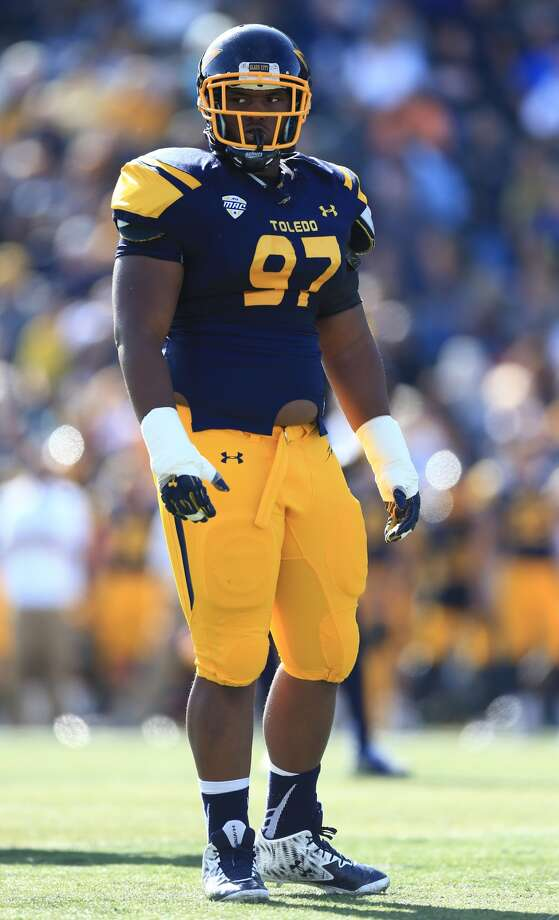 Orion Jones had 46 tackles, 12 for loss, and six sacks last season for Toledo.Click through the gallery to see John McClain and Aaron Wilson's latest mock draft.