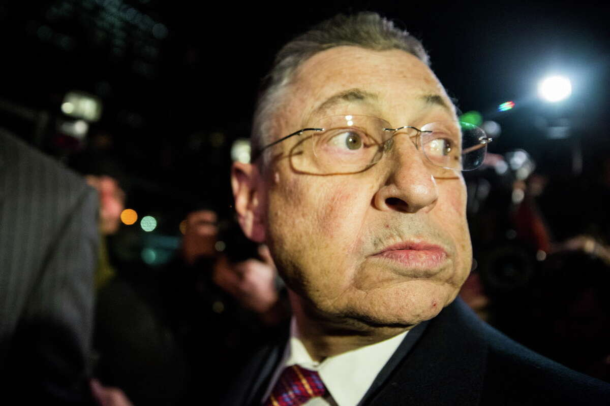 NEW YORK, NY - NOVEMBER 30: Former New York Assembly Speaker Sheldon Silver leaves federal court after being found guilty on seven charges on November 30, 2015 in New York City. Sheldon will be sentenced on January 10, 2016. (Photo by Andrew Burton/Getty Images) ORG XMIT: 594220057
