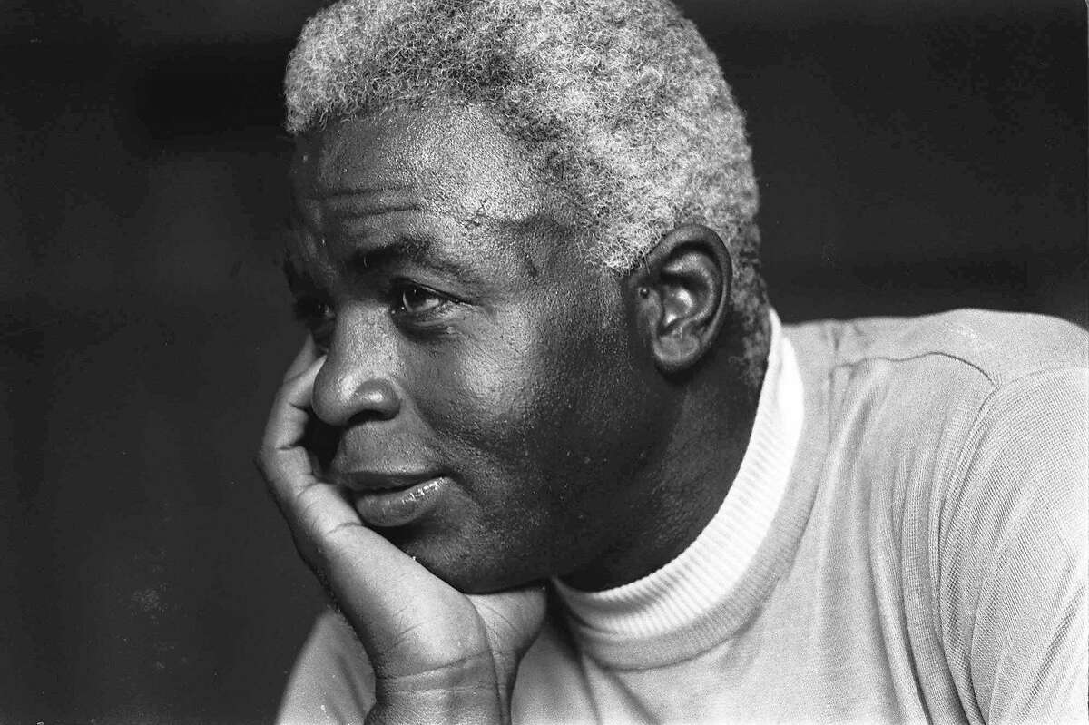 Jackie Robinson looks pensive at his Stamford, Conn., home, in this June 30, 1971 file photo, as he discusses the death of his son Jack, Jr.