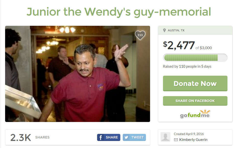 Ishmael Mohammed, better known as Junior the Wendy's Guy, died in Austin after being kicked or punched in the face. He was a beloved mainstay at the University of Texas campus. Credit: GoFundMe screenshot.