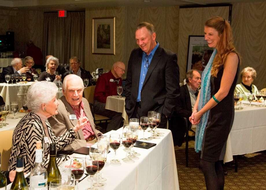 Gary Cogill and Haley Hamilton Cogill led the event. -- Photo courtesy of Bruce Bennett