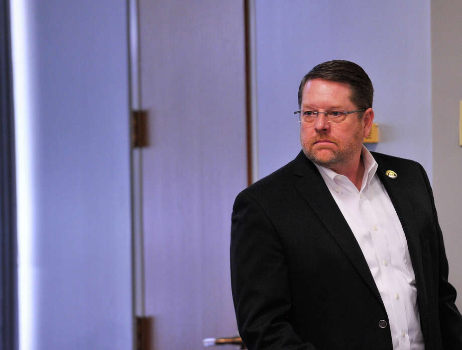 San Antonio Police Officers Association President Mike Helle looks over the meeting room prior to contract talks with the city of San Antonio last month. Helle defended a Fiesta Medal designed to condemn the 43 officers who voted to support Police Chief William McManus. A reader disagrees. Photo: Robin Jerstad /San Antonio Express-News