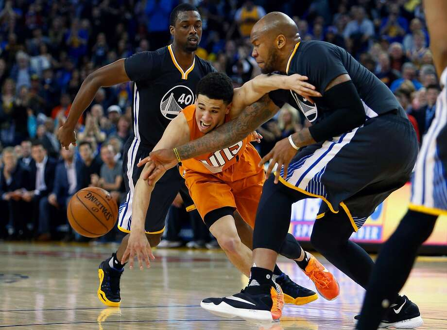 Marreese Speights played defense along with scoring 28 points against the Suns in mid-March, an example of the Warriors' bench strength. Photo: Lachlan Cunningham, Getty Images