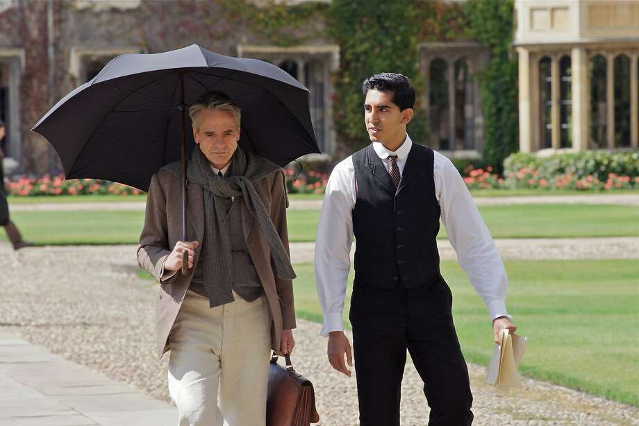 Jeremy Irons (left) plays Cambridge Professor G.H. Hardy, the mentor of young mathematical whiz Srinivasa Ramanujan, portrayed by Dev Patel. Photo: IFC
