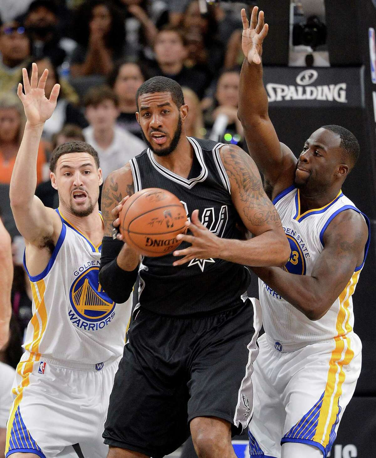 Oct. 25 - Spurs at Warriors, 9:30 p.m. NBA opening night. The Spurs entering a new age. The Warriors poised to ravage the NBA. Kawhi Leonard. Kevin Durant. Stephen Curry. Tony Parker. LaMarcus Aldridge. Draymond Green. Pau Gasol. Klay Thompson. If this doesn't excite you, you're dead inside.