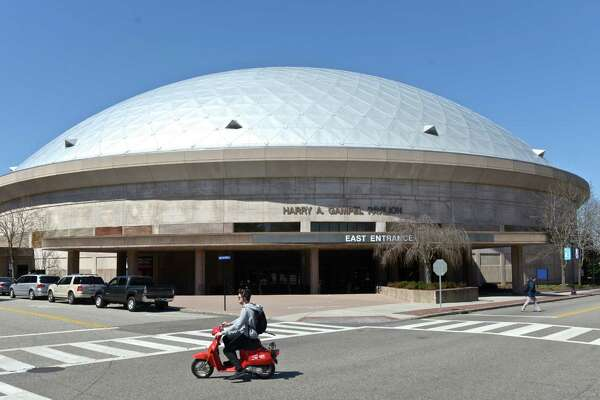 The Harry A. Gampel Pavilion on the University of Connecticut campus, Thursday, April 14, 2016, in Storrs, Conn.