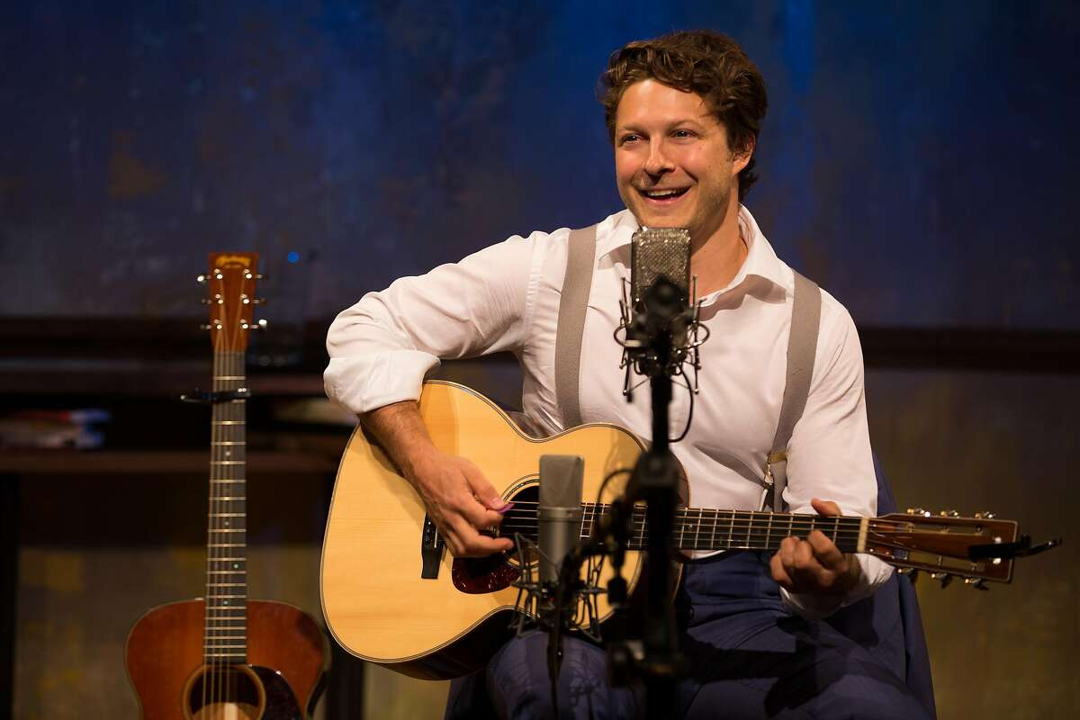 """Benjamin Scheuer's autobiographical solo musical, """"The Lion,"""" has been a hit around the world and makes its San Francisco debut at ACT's Strand Theater through May 1. Photo by Matthew Murphy"""