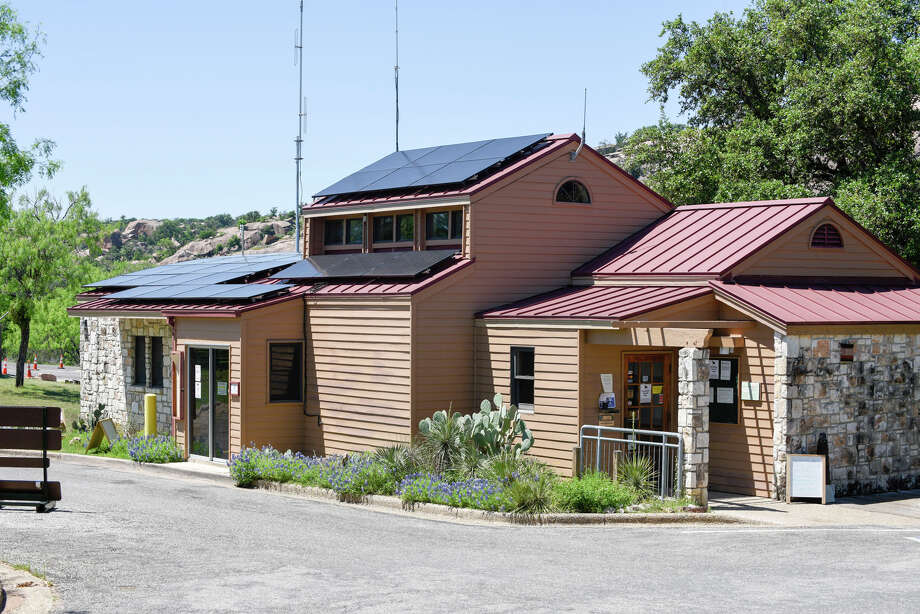 Enchanted Rock State Park now has solar panels on its welcome center. / CHASE A. FOUNTAIN, TPWD