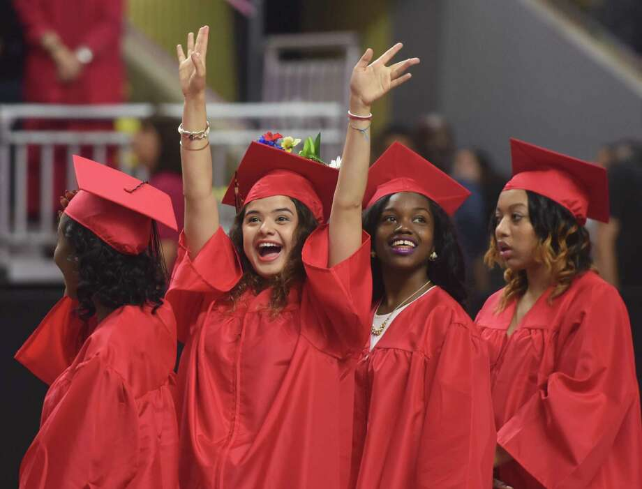 Few HISD seniors in 2006 through 2008 persisted to earn a bachelor's degree, a new report found. Click through to see Houston high schools with the highest graduation rates. Photo: Tyler Sizemore, Staff Photographer / Greenwich Time