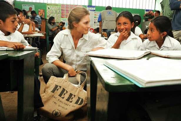 Lauren Bush Lauren visits a school in Guajiquiro, Honduras.