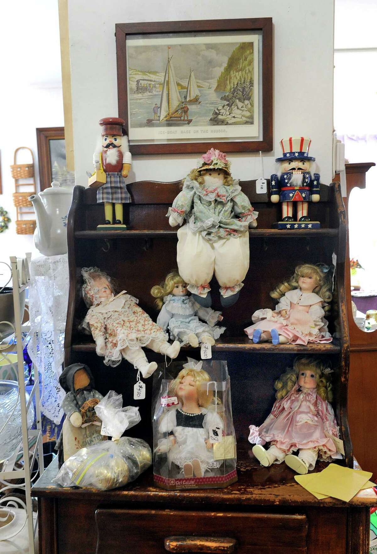 Dolls are among the many items avaiable at Healing The Children Thrift Shop at 27 East Street in New Milford, Thursday, April 14, 2016. The store is closing Saturday.