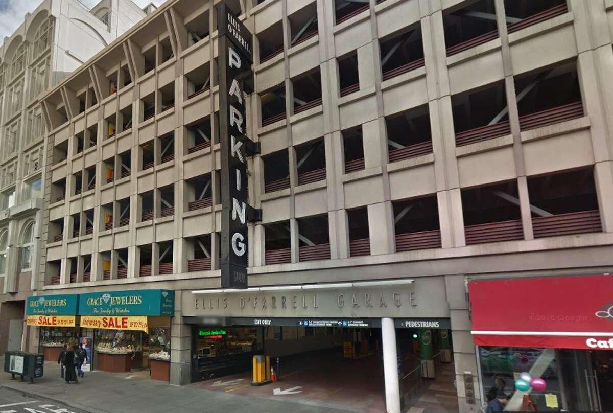 Ellis - O'Farrell Garage(123 O'Farrell Street, (415) 986-4800) Downtown parking and close to shops. •Midnight - 9 a.m. -- $2 •9 a.m. - noon -- $3 •Noon - 3 p.m. -- $3.50 •3 p.m. - 6 p.m. -- $3.50 •6 p.m. - midnight -- $1 source:visitunionsquaresf.com