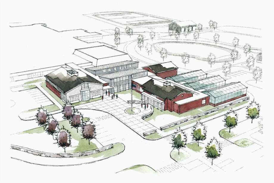 The proposed Agriscience STEM Center complex for Shepaug Vally School in Region 12. The future of this center hangs on state bonding of $29 million toward the construction cost. Photo: Contributed Photo / The News-Times / The News-Times Contributed