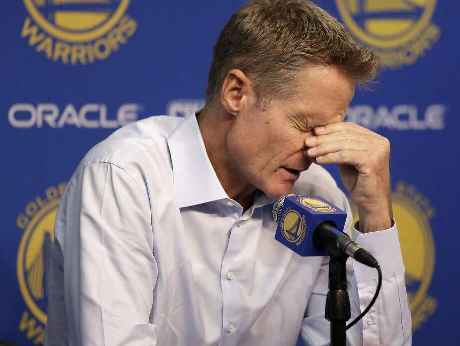 Head coach Steve Kerr missed the start of the season because of after-effects from off-season surgery. Photo: Ben Margot, AP