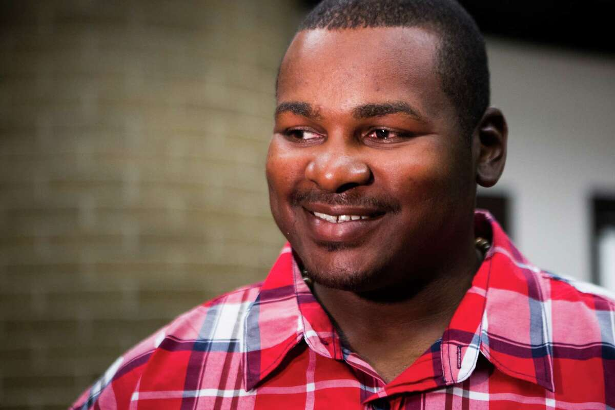 Alfred Dewayne Brown, 33, was convicted of capital murder and sentenced to death in October 2005. After 12 years imprisoned, his conviction was overturned after the discovery of evidence substantiating his alibi. Now Brown's attorneys are seeking almost one million dollars in state funds for wrongful imprisonment. Monday, Feb. 22, 2016, in Houston. ( Marie D. De Jesus / Houston Chronicle )