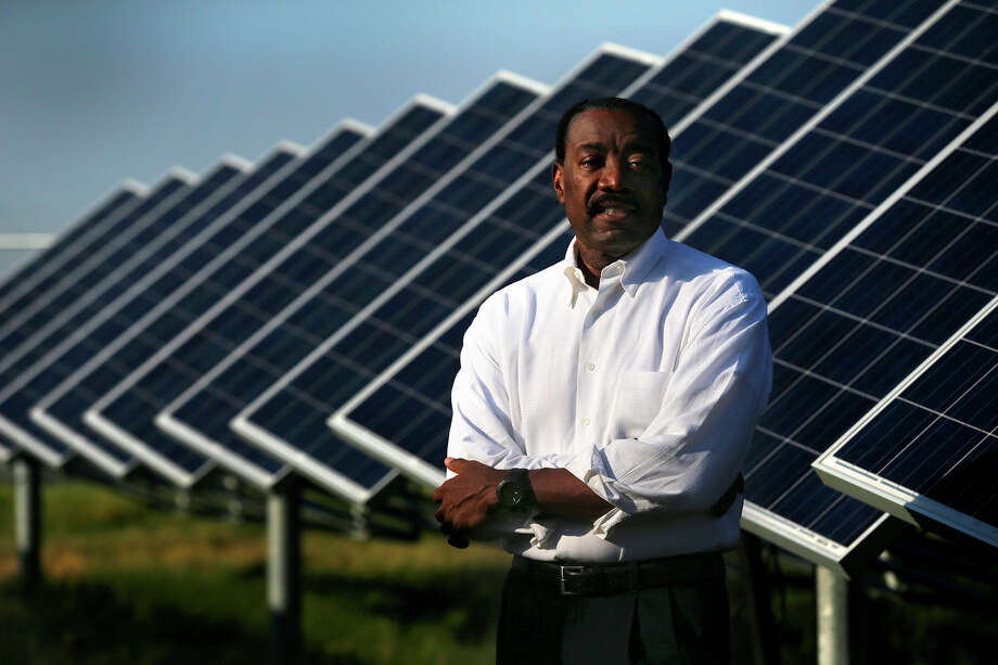 CPS Energy CEO Doyle Beneby stands Thursday August 13, 2015 at the OCI Solar Power Alamo 2 solar farm on Binz-Engleman Road. Beneby has pushed the city-owned utility toward using cleaner energy sources and is resigning effective September 30. Beneby has headed CPS since August 2010. Photo: John Davenport, Staff / San Antonio Express-News / ©San Antonio Express-News