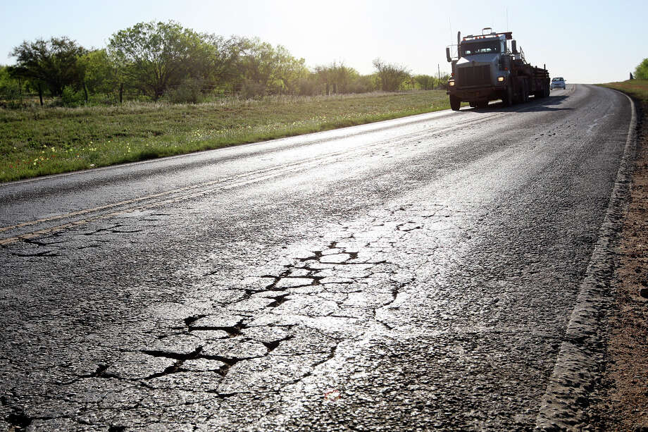 In La Salle County, officials issued more than $90 million in bonds over several years to pay for repairs to damaged roads and other projects such as a large public park. Photo: Express-News File Photo / SAN ANTONIO EXPRESS-NEWS