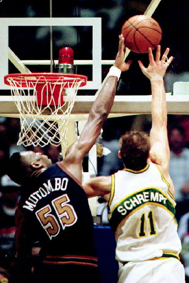 1994No. 8 seed: Denver NuggetsNo. 1 seed: Seattle SupersonicsSeries: 3-2**Best-of-five Photo: JIM DAVIDSON, AFP/Getty Images / AFP