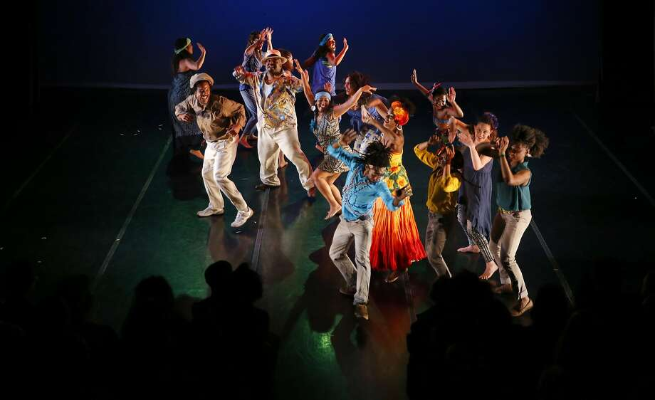 Dancers with Teatro Brasileiro de Dance: the Bahia in Oakland Collective perform during the 12th annual Cuba Caribe Festival at the Dance Mission Theater in San Francisco, California on Fri. April 15, 2016. Photo: Michael Macor, The Chronicle