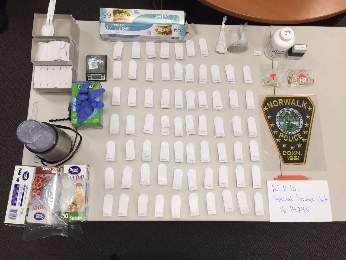 Norwalk police have uncovered a drug factory in a Flax Hill Road condomium where they seized more than 670 packaged heroin and another 49 grams of the drug. Also found in the