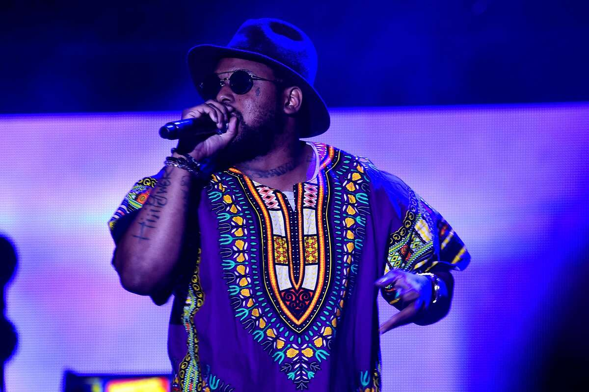 INDIO, CA - APRIL 15: Special guest hip-hop artist ScHoolboy Q performs onstage with A$AP Rocky during day 1 of the 2016 Coachella Valley Music & Arts Festival Weekend 1 at the Empire Polo Club on April 15, 2016 in Indio, California. (Photo by Frazer Harrison/Getty Images for Coachella)