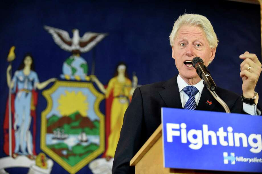 Former President Bill Clinton speaks in support of his wife, Democratic presidential candidate Hillary Clinton, during the New York State Democratic Rural Conference on Saturday, April 16, 2016, at the Desmond Hotel and Conference Center in Colonie, N.Y. (Cindy Schultz / Times Union) Photo: Cindy Schultz / Albany Times Union