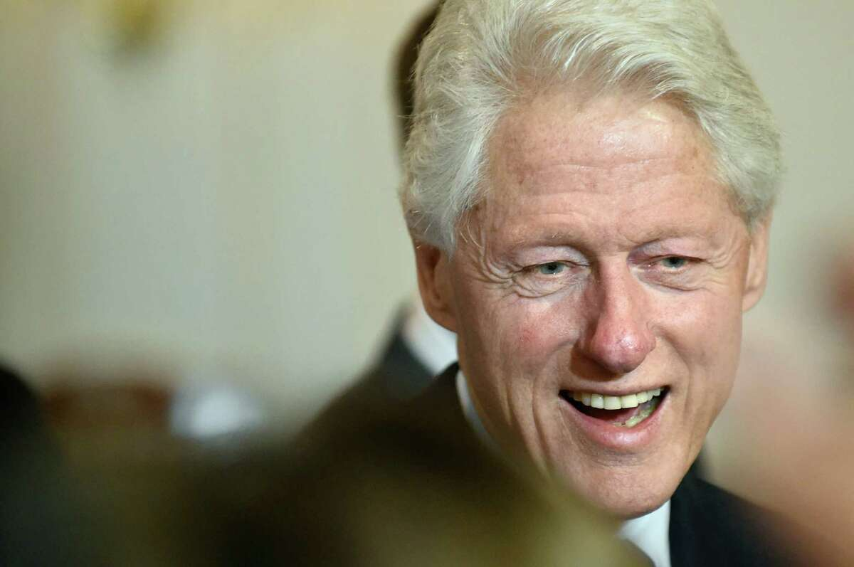 Former President Bill Clinton speaks in support of his wife, Democratic presidential candidate Hillary Clinton, during the New York State Democratic Rural Conference on Saturday, April 16, 2016, at the Desmond Hotel and Conference Center in Colonie, N.Y. (Cindy Schultz / Times Union)
