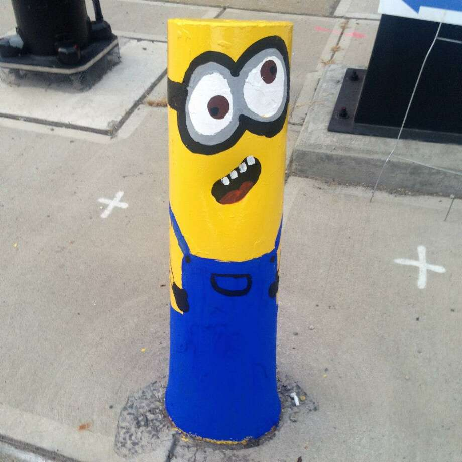 One of the MInions in downtown Amsterdam. City workers painted over the characters on Thursday. (Contributed photo.) ORG XMIT: 3gNG3YFzjOO9HfYFk56k