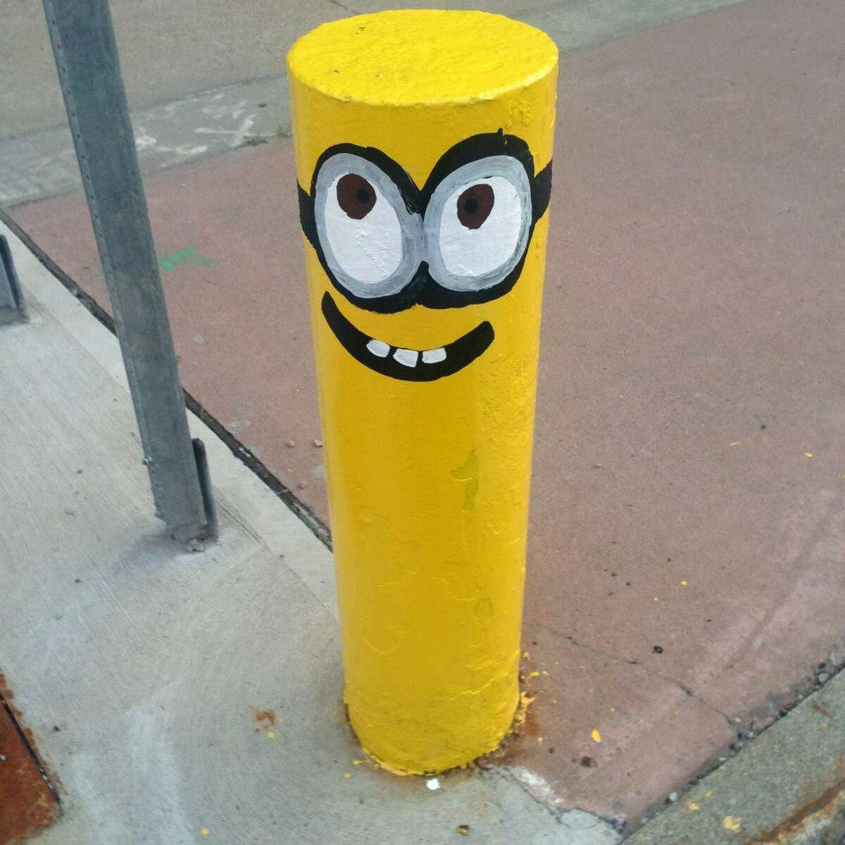 One of the MInions in downtown Amsterdam. City workers painted over the characters on Thursday. (Contributed photo.) ORG XMIT: lc6-HLfUdcCo1lFZFqRF