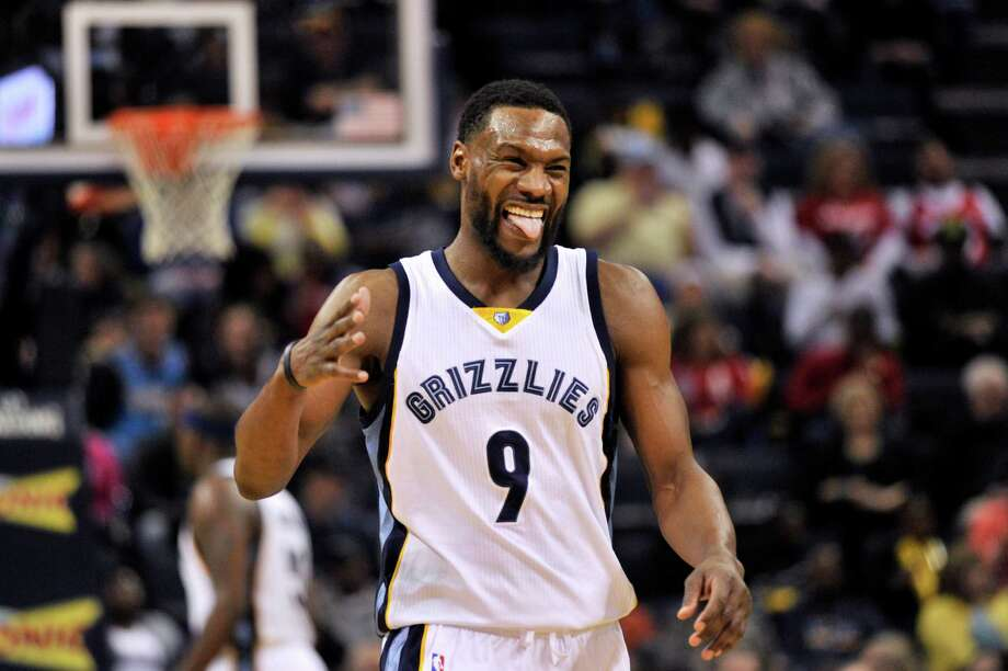 FILE - In this March 19, 2016, file photo, Memphis Grizzlies guard Tony Allen (9) reacts in the second half of an NBA basketball game against the Los Angeles Clippers in Memphis, Tenn. The Grizzlies take on the San Antonia Spurs in the first round of the NBA playoffs starting Sunday. (AP Photo/Brandon Dill) Photo: Brandon Dill, FRE / Associated Press / FR171250 AP