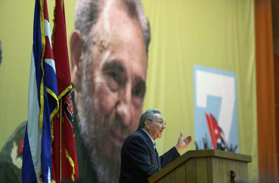 """Handout picture of Cuban official website www.cubadebate.cu, showing President Raul Castro giving a speech during the opening of VII Congress of Cuban Communist Party (PCC) at Convention Palace in Havana, on April 16, 2016.   President Raul Castro vowed Saturday never to pursue """"privatizing formulas"""" or """"shock therapy,"""" setting the tone for a Communist Party congress convened to review progress in revamping the island's Soviet-style economy. / AFP PHOTO / Cuba Debate / ISMAEL FRANCISCO / RESTRICTED TO EDITORIAL USE - NO MARKETING, NO ADVERTISING CAMPAIGNS - MANDATORY CREDIT: AFP PHOTO/CUBA DEBATE/ISMAEL FRANCISCO  - DISTRIBUTED AS A SERVICE TO CLIENTS - XGTYISMAEL FRANCISCO/AFP/Getty Images Photo: ISMAEL FRANCISCO, Stringer / AFP/Getty Images / AFP or licensors"""