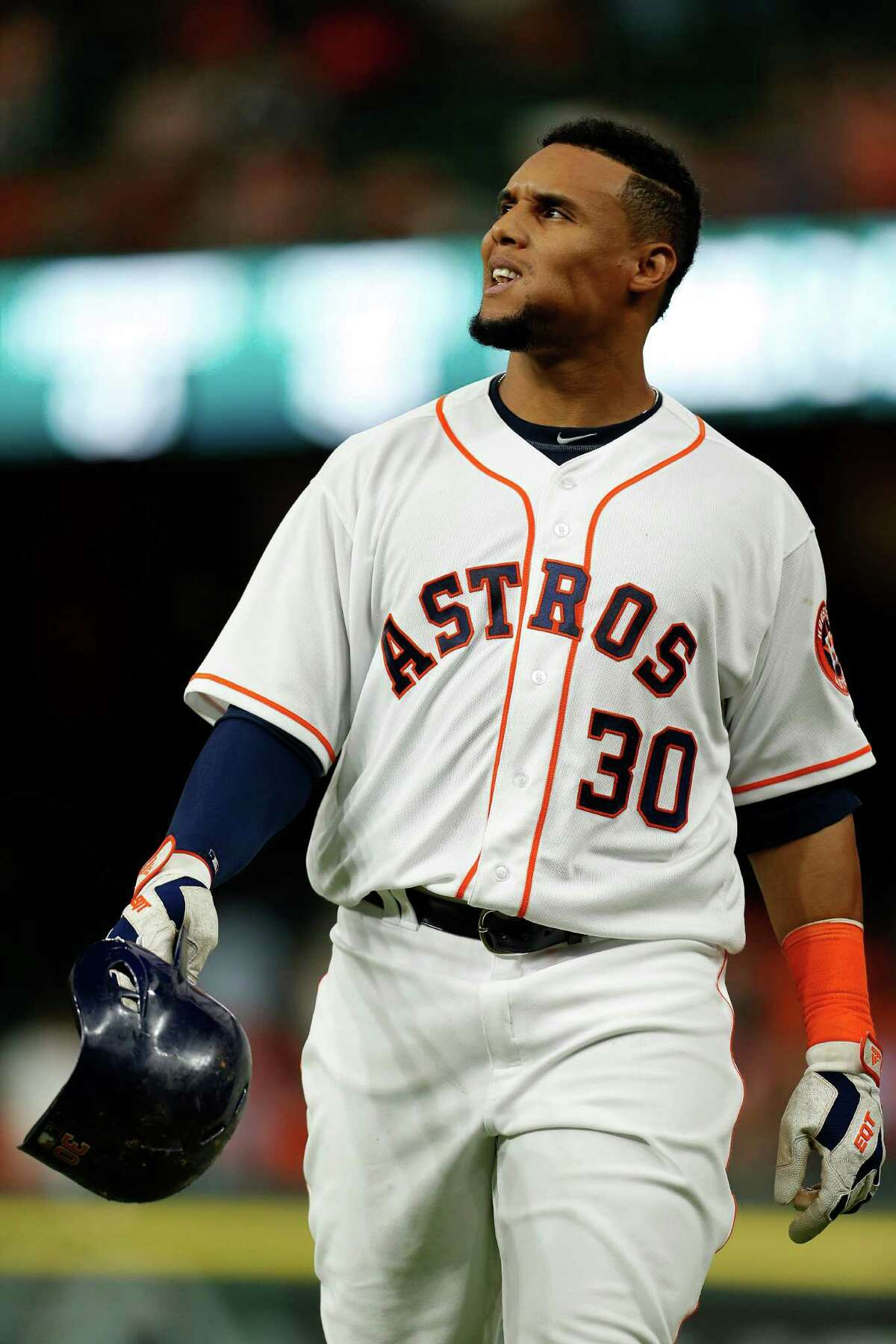 Reason to panic: Carlos Gomez The flamboyant center fielder acquired from Milwaukee last July has been mostly underwhelming as an Astro, hitting .228 with all of four homers, none this season. He's hitting .200 this year with 21 strikeouts in 77 at-bats entering Wednesday, but keeps getting sent out there every day. That might need to change in favor of someone more productive.