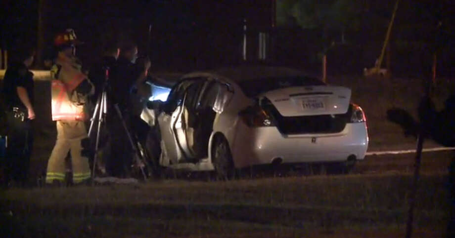 One person died and another was injured when the driver ran into a tree in south Houston early Sunday morning. Photo via Metro Video.