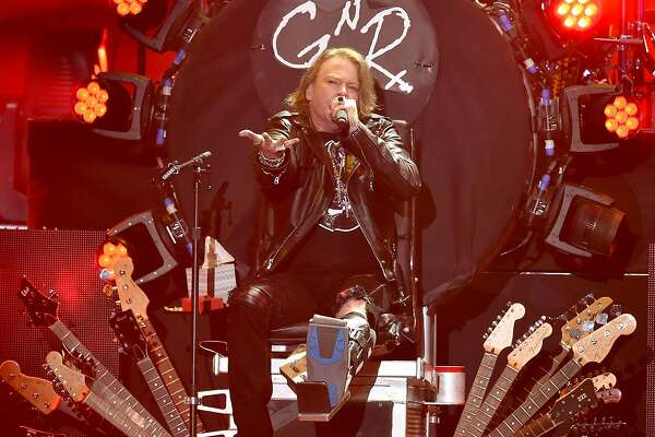 INDIO, CA - APRIL 16:  Musician Axl Rose of Guns N' Roses performs onstage during day 2 of the 2016 Coachella Valley Music & Arts Festival Weekend 1 at the Empire Polo Club on April 16, 2016 in Indio, California.  (Photo by Kevin Winter/Getty Images for Coachella)